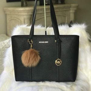 💃Michel Kors Sady Large Tote Black Laptop
